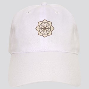 Dharma Wheel with Lotus Flowe Cap