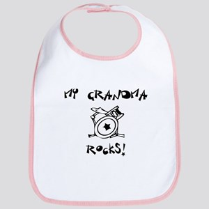 My Grandma Rocks! (Drums) Bib