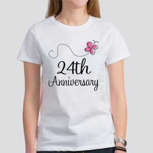 24th Anniversary Gift Butterfly Women's T-Shirt