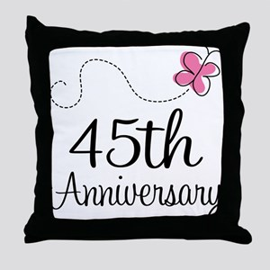 45th Anniversary Gift Butterfly Throw Pillow