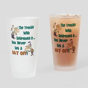 Retirement Days Drinking Glass