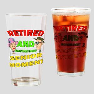 Retired Senior Moment Drinking Glass
