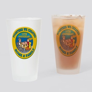 35th Wedding Anniversary Drinking Glass