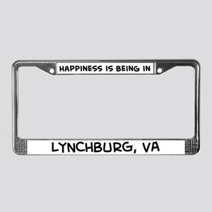 Happiness is Lynchburg License Plate Frame