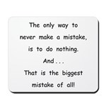 Make a Mistake Mousepad