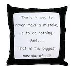 Make a Mistake Throw Pillow