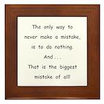 Make a Mistake Framed Tile