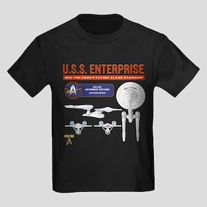 Starship Enterprise Kids Dark T-Shirt