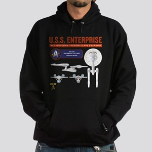 Starship Enterprise Hoodie (dark)