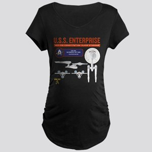 Starship Enterprise Maternity Dark T-Shirt