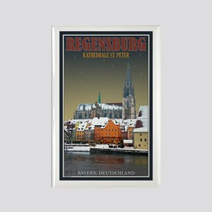 Regensburg Dom Winter Rectangle Magnet