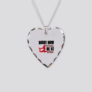 Yoga Necklace Heart Charm