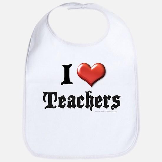 I Heart (Love) Teachers Bib