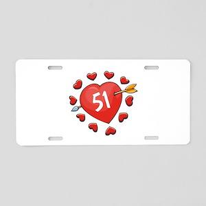 51st Valentine Aluminum License Plate