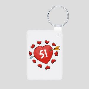 51st Valentine Aluminum Photo Keychain