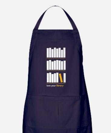 Love Your Library (white art) Apron (dark)