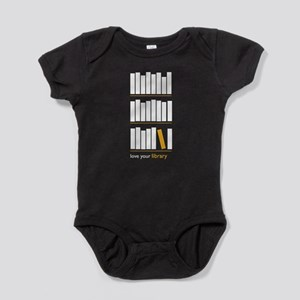 Love Your Library (white art) Baby Bodysuit