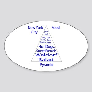 New York City Food Pyramid Sticker (Oval)