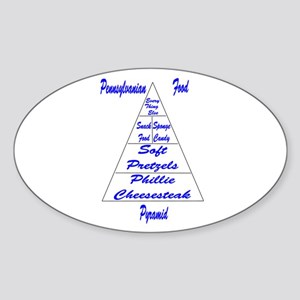 Pennsylvanian Food Pyramid Sticker (Oval)