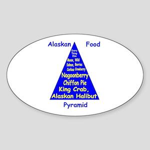 Alaskan Food Pyramid Sticker (Oval)