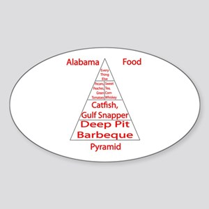 Alabama Food Pyramid Sticker (Oval)
