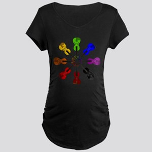 Circle of Violins Maternity Dark T-Shirt