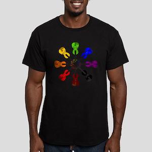 Circle of Violins Men's Fitted T-Shirt (dark)