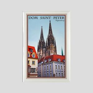 Regensburg Cathedral Rectangle Magnet