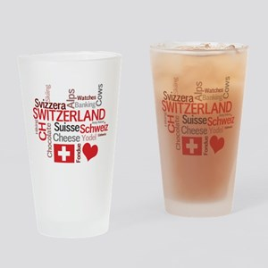 Switzerland - Favorite Swiss Things Drinking Glass