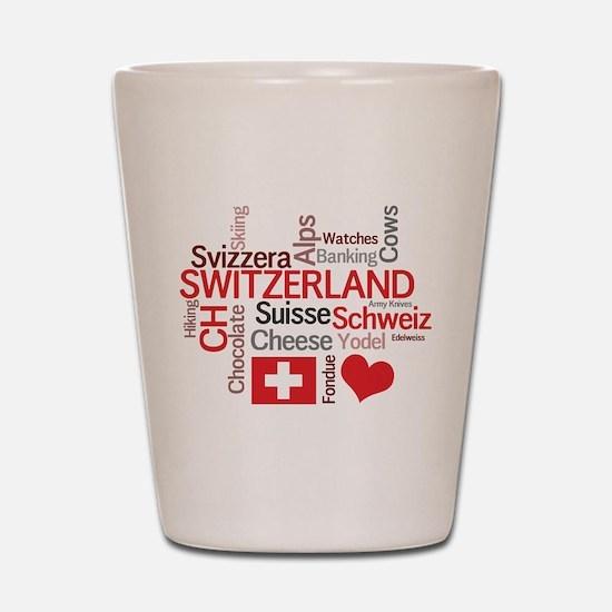 Switzerland - Favorite Swiss Things Shot Glass