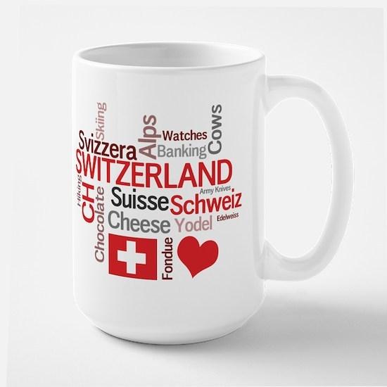 Switzerland - Favorite Swiss Things Large Mug