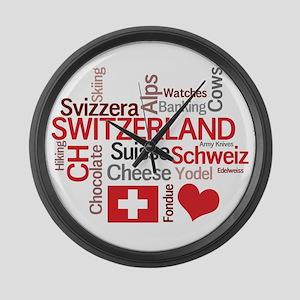 Switzerland - Favorite Swiss Things Large Wall Clo