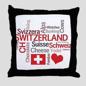 Switzerland - Favorite Swiss Things Throw Pillow