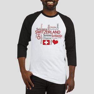 Switzerland - Favorite Swiss Things Baseball Jerse