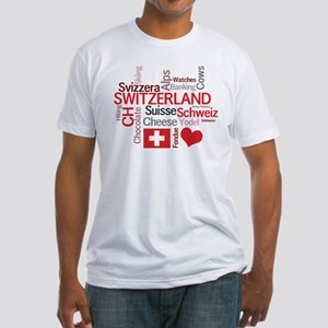 Switzerland - Favorite Swiss Things Fitted T-Shirt