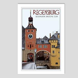 Regensburg Stone Bridge Postcards (Package of 8)