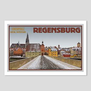Regensburg Bridge Winter Postcards (Package of 8)