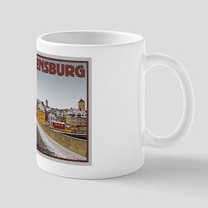 Regensburg Bridge Winter Mug