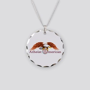 American Atheist Necklace Circle Charm