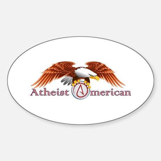 American Atheist Sticker (Oval)
