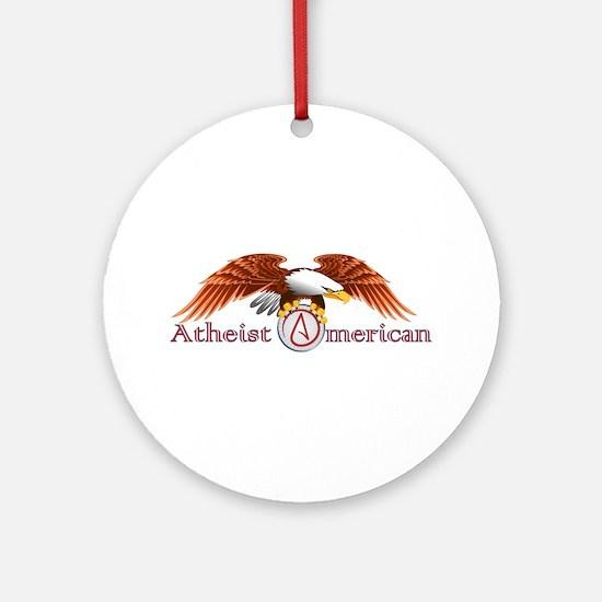 American Atheist Ornament (Round)