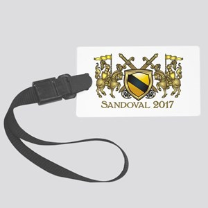 SANDOVAL COAT OF ARMS Large Luggage Tag
