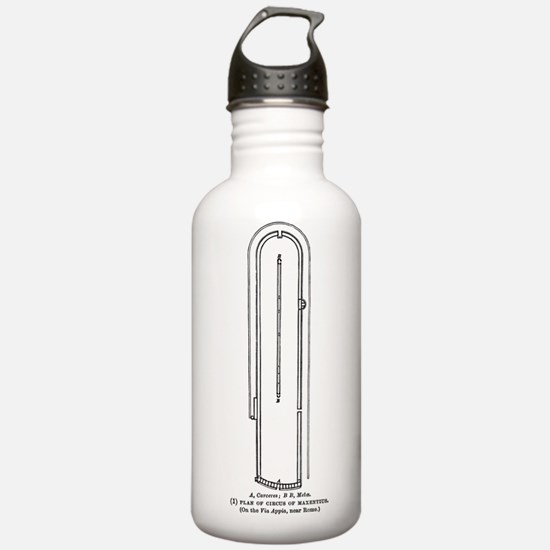 Circus Maximus Plan Water Bottle