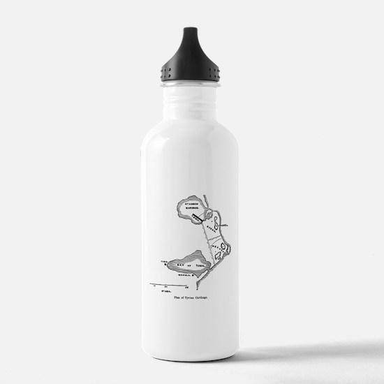 Tyrian Carthage Plan Water Bottle