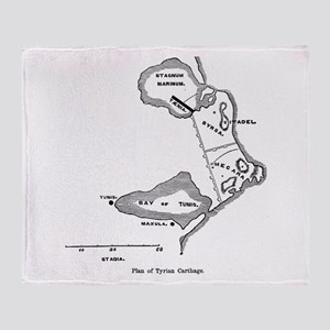 Tyrian Carthage Plan Throw Blanket