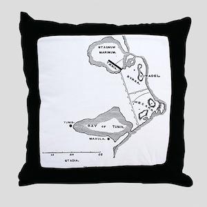 Tyrian Carthage Plan Throw Pillow