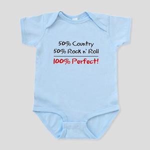 50% Country 50% Rock N' Roll Infant Bodysuit