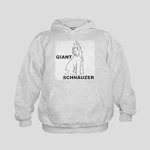 giant schnauzer looks down Kids Hoodie
