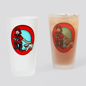 Boy Fireman Drinking Glass