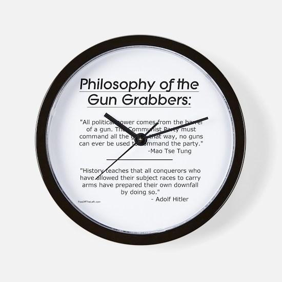 Philosophy of the Gun Grabbers Wall Clock